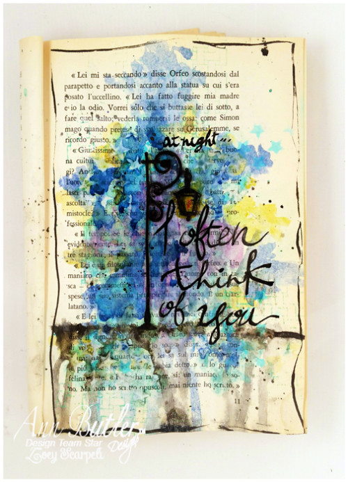 Art Journal page with ColorBox Crafter's ® ink