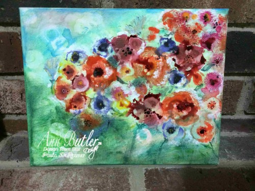 Flower Canvas using Reinkers and Alcohol