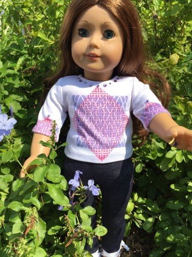 Background Basics Stamped American Girl Doll Outfit