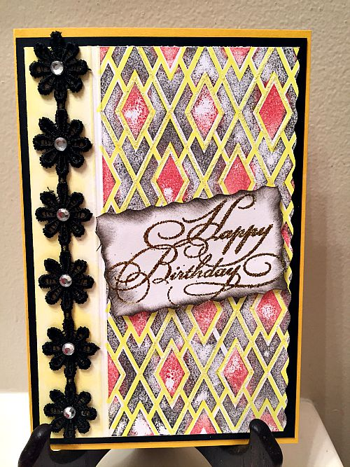 Card using Background Basics - Ann Butler Designs