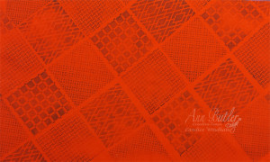 Ann Butler Quilted Pumpkins stamped orange fabric CWindham 2