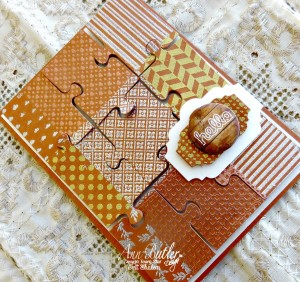 Precious card with faux metals