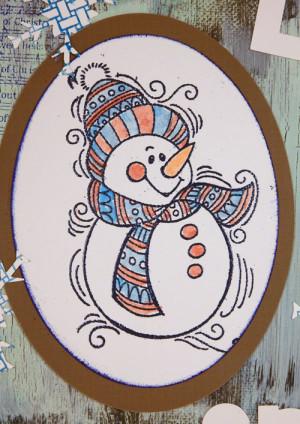 snowman canvas