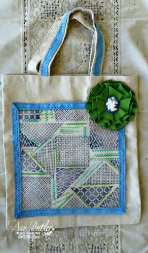 Faux quilted fabric bag