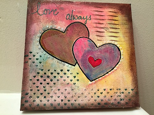 Mixed Media Canvas using Ann Butler Design