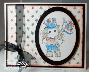 Stenciled Patriotic Card
