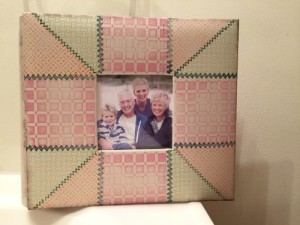 Up-Cycled Album Cover with Faux Quilting