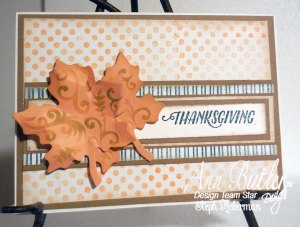 Quick and Easy Thanksgiving Card