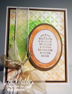 Sweet embossed card for Mom