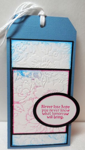 Embossed Rose Card and Coordinating Tag