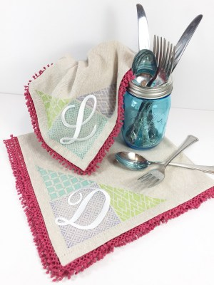 Quick and Easy Faux Quilted Napkins