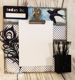 Stamped Altered Clipboard with Crafter's Inks