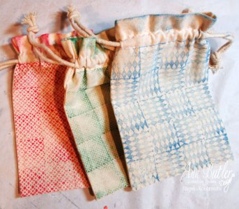 Sweet mini pouches with Ann Butler Designs