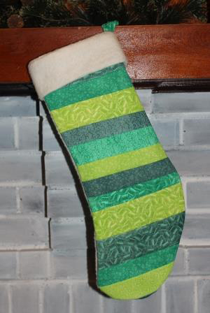 Crafter's Ink Quilted Christmas Stocking