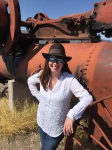 Ann Cavitt Fisher in Castolon, Texas. Photograph, Jim Stevens.