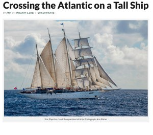 Article about my westbound Atlantic crossing on Star Flyer.