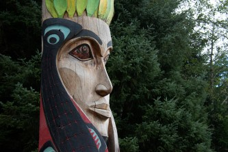 Sitka National Historical Park has a beautiful totem poles on a walk through the woods