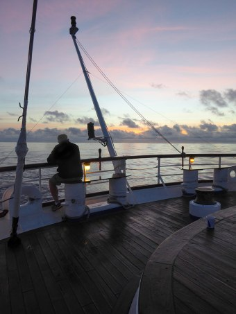 Sunrise on the Stern of Star Flyer