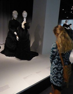 Catherine viewing Death Becomes Her, A Century of Mourning Attire.