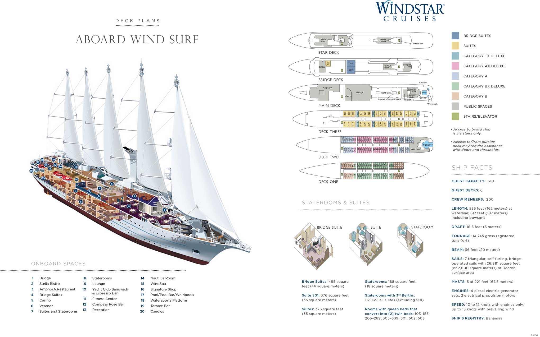 Wind surf cruise review yachtsmans caribbean ann cavitt fisher wind surf deck plan courtesy of windstar pooptronica Choice Image