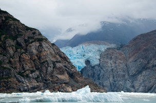 Leaving Sawyer Glacier behind. Photograph, Ann Fisher.