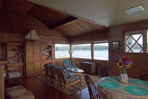 I loved the pine paneled living space.