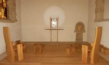 tabernacle de Léon Zac: bois, peinture murale