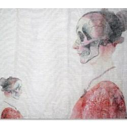 Peili-tekstiiliteos, valokuva kankaalla