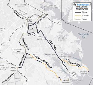 Stylized Trail Map
