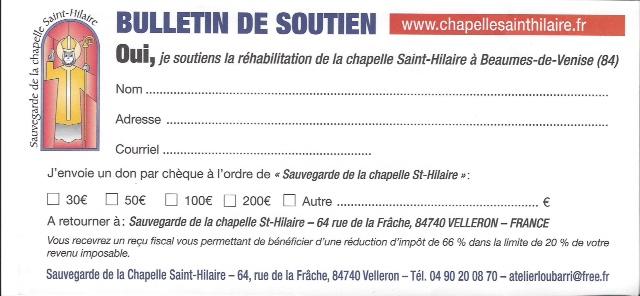 bulletin de soutien St Hilaire