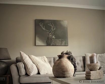 schilderij hert landelijk landelijke kunst