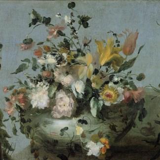 Bloemen, anoniem, schilderij reproductie oude meesters