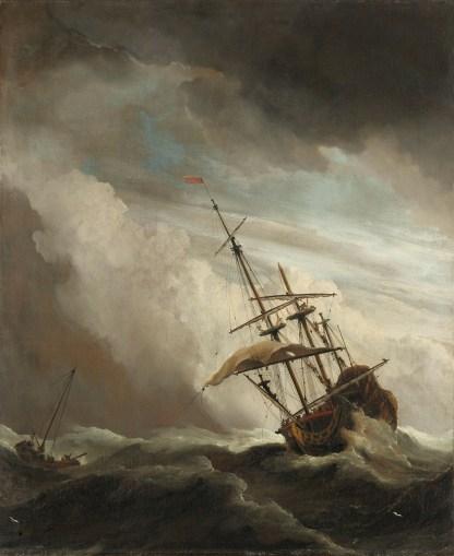 schip reproductie schilderij ouder meesters