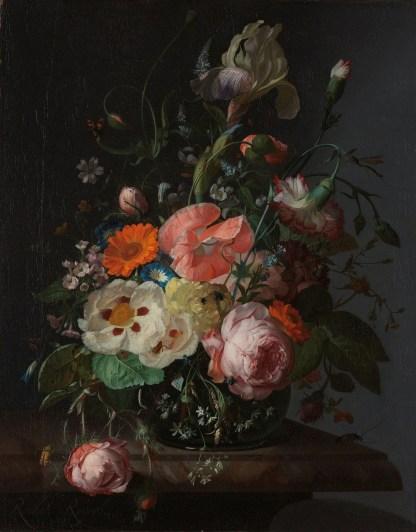 Canvas bloemen stilleven Rachel Ruysch