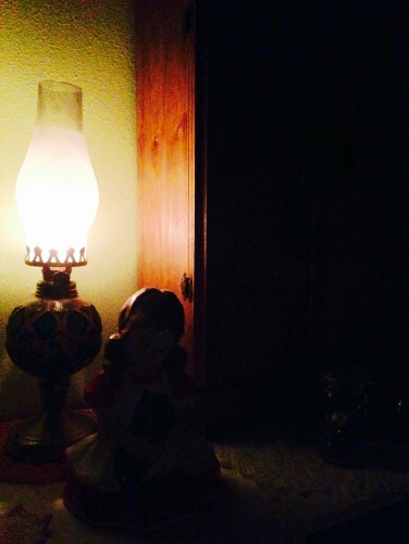 I discovered that my kerosene lamp actually works!