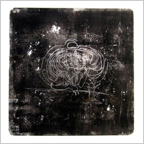Gravure contemporaine -Masque des constellations 2- Anne Carpena