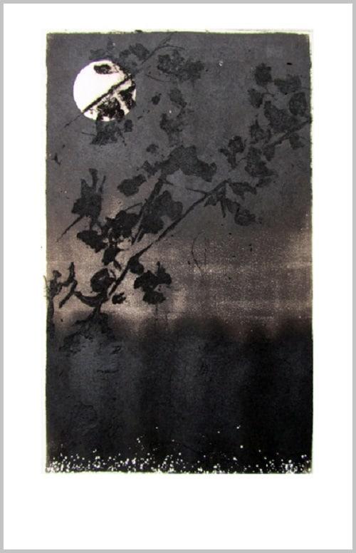 Gravure contemporaine -Ode N°1- Theme Le presae imobile Anne Carpena
