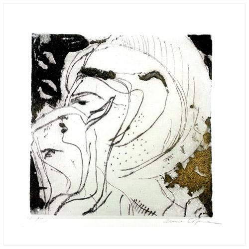 Gravure-contemporaine-divine nature-portrait