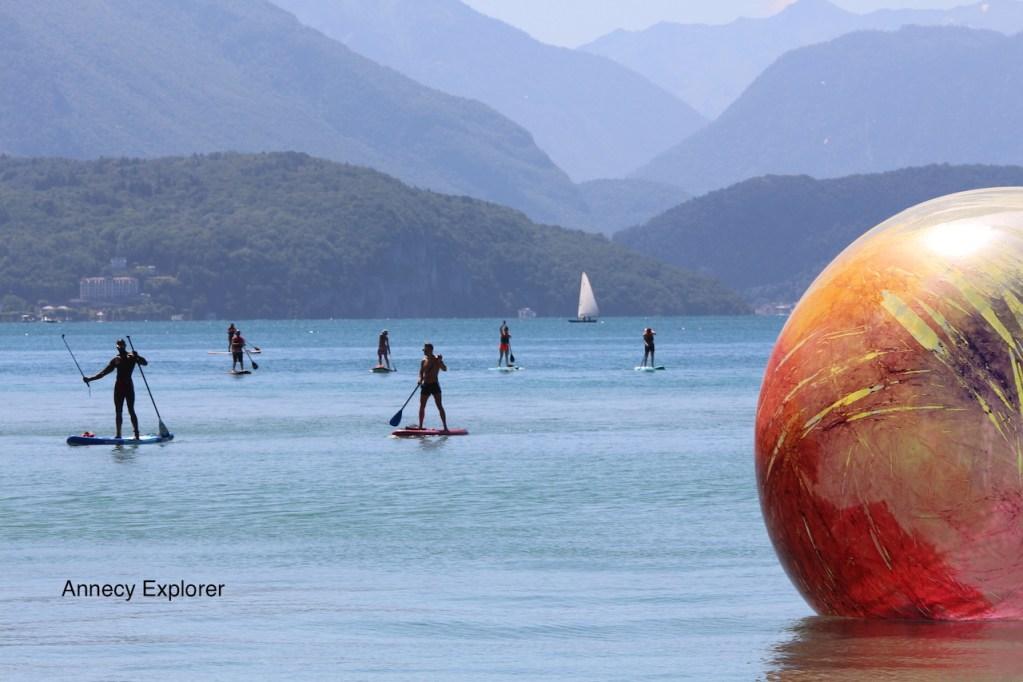 Le paddle à Annecy