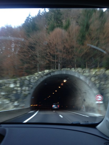 Not the Mont Blanc tunnel, but one of the many other tunnels we went through