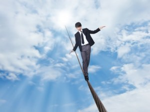man on high wire
