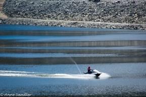The lone person having fun on Cherry Lake.
