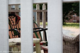 I liked that I was able to have the chairs in focus and the fencing soft.