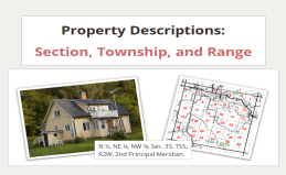 Property Descriptions: STR