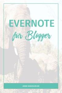 Mein Lieblingstool als Blogger? Definitiv Evernote. Was du damit alles machen kannst und wieso ich mir mein Blogger-Leben ohne Evernote nicht mehr vorstellen kann, erfährst du in diesem Post I www.annehaeusler.de