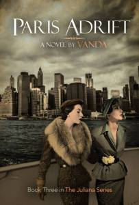 The book cover for 'Paris Adrift' by Vanda