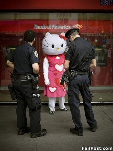 Hello Kitty Arrested