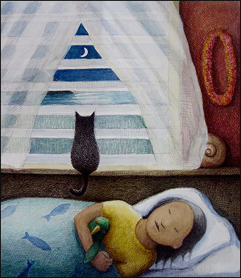 Cat in Night Window, Anne Hunter, Author and Illustrator