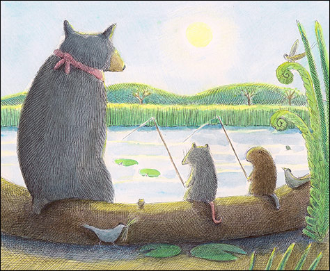 Fishing Trio, Anne Hunter, Author and Illustrator