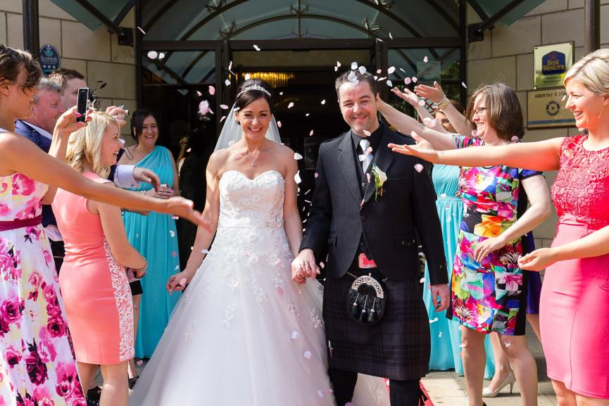 Weddings photography bridge groom Woodlands Hotel Dundee